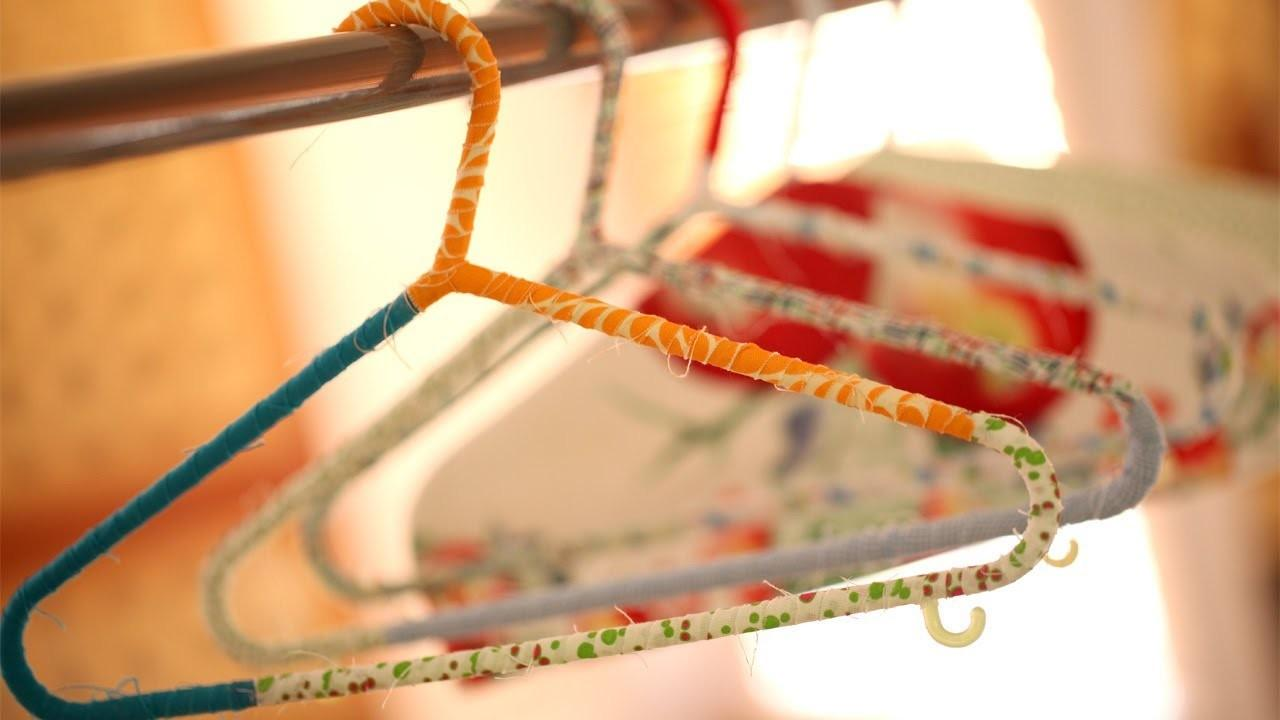 Make Wrapped Hangers Hanger Covers Kin Diy