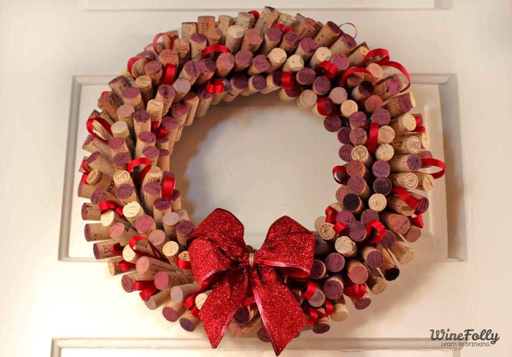 Make Wreath Out Wine Corks Folly