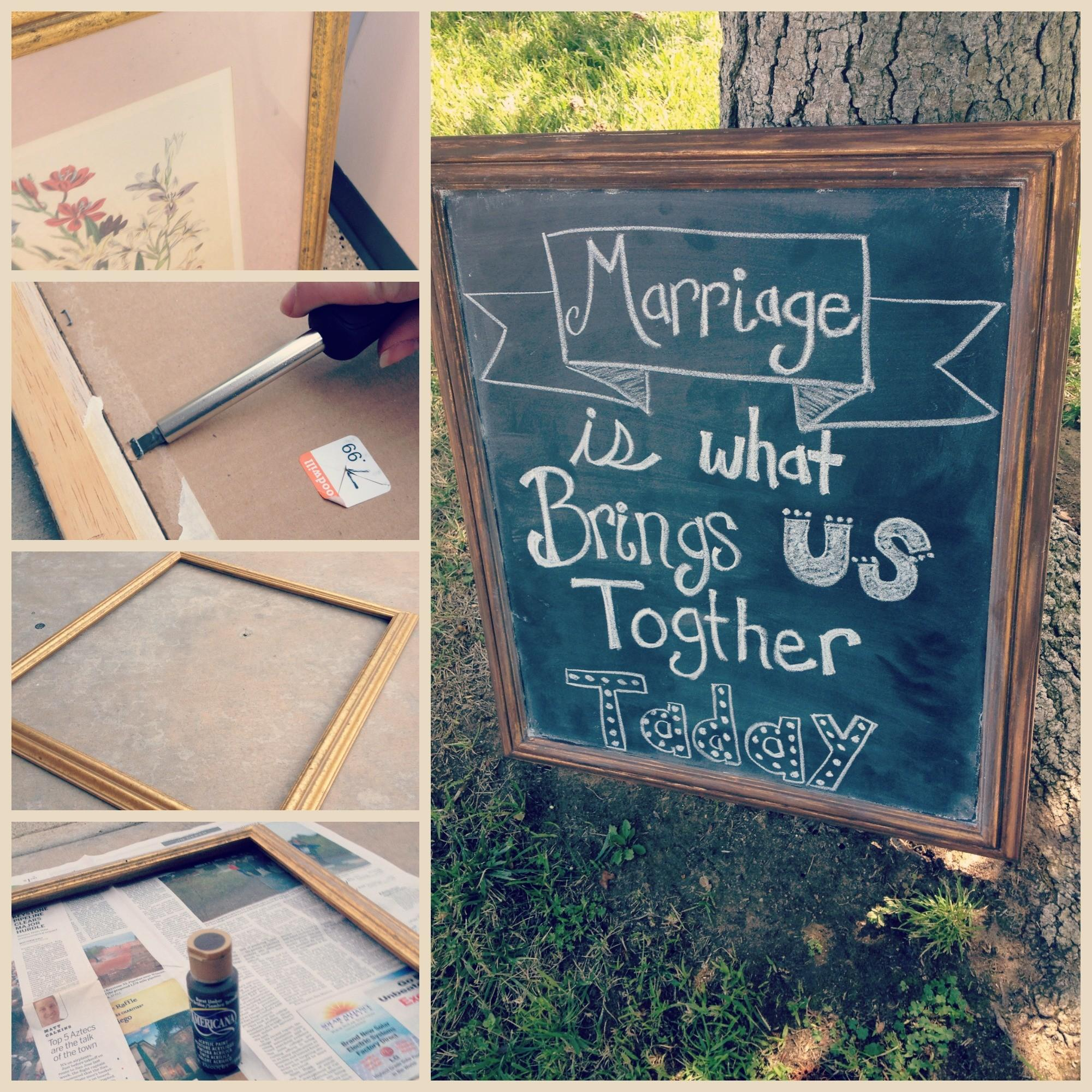 Make Your Own Chalkboards Wedding Simply