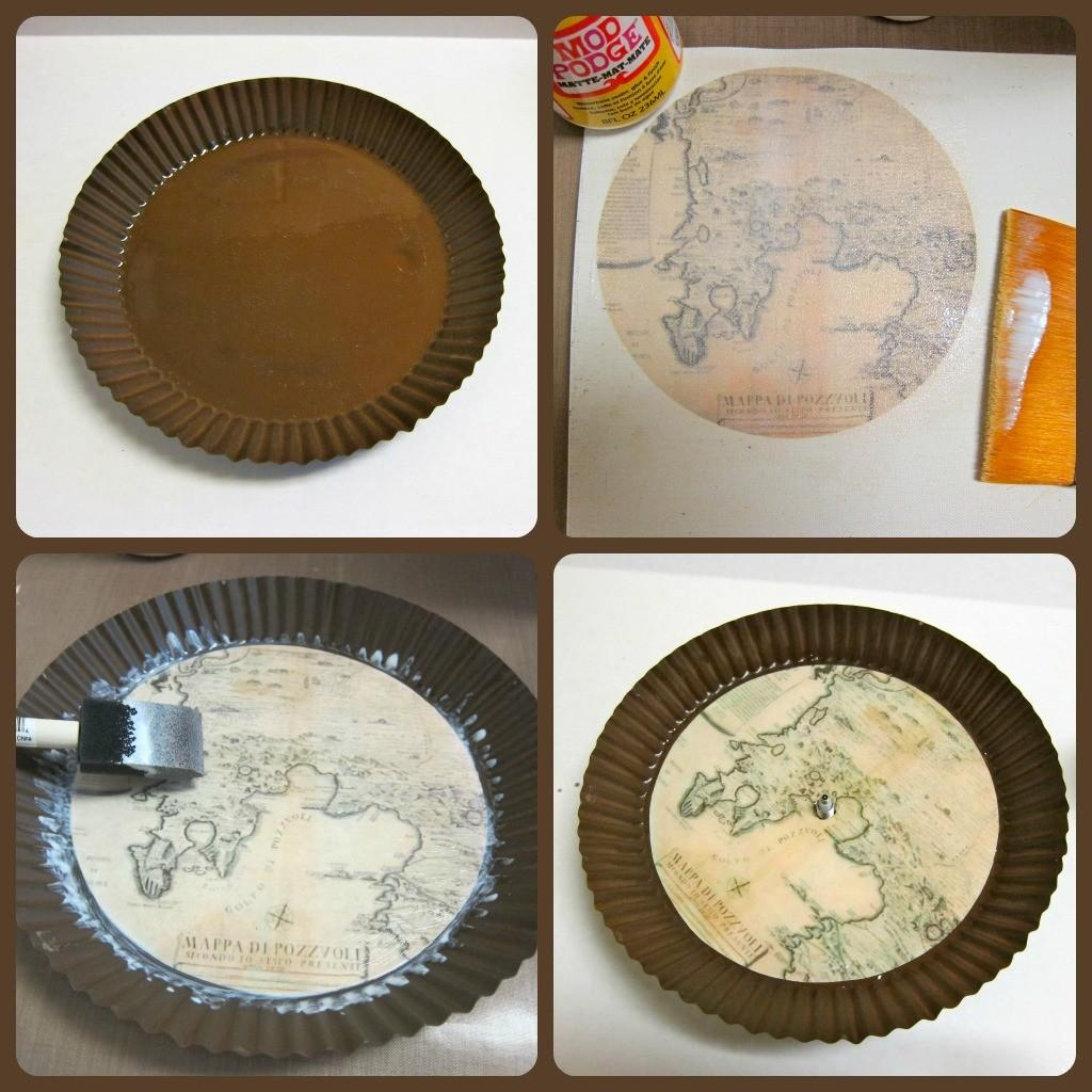 Make Your Own Clock Antique Map Theme