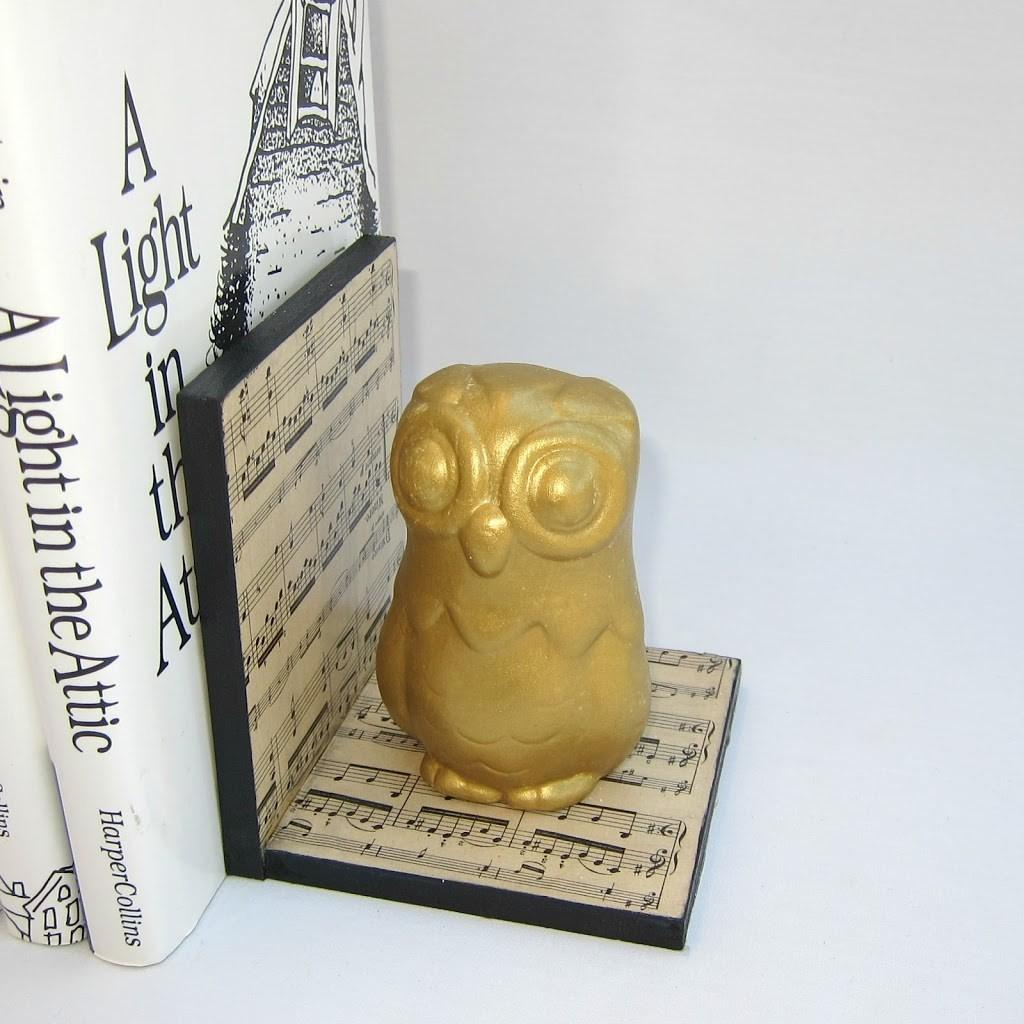 Make Your Own Gilded Owl Bookends Morena Corner