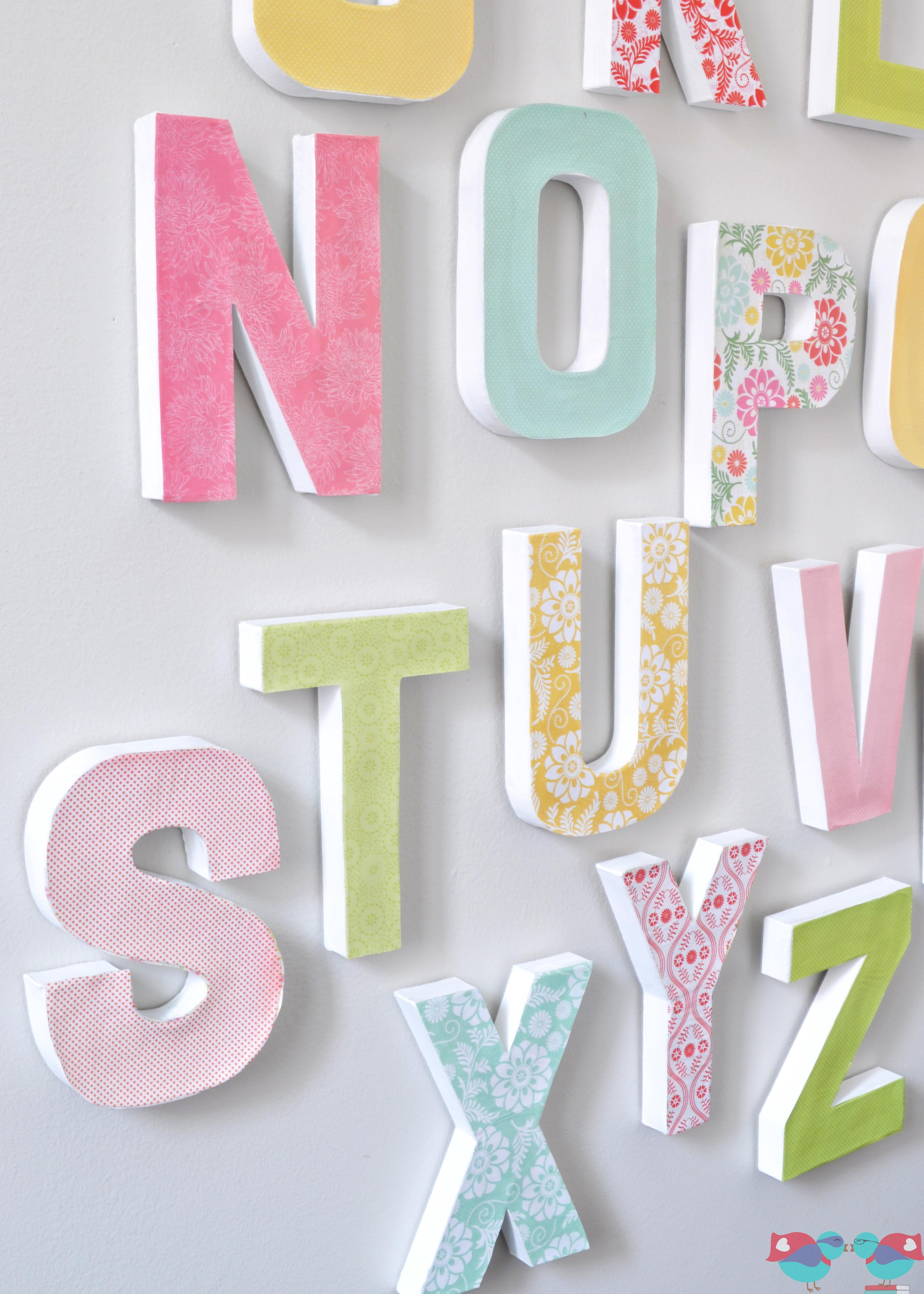 Make Your Own Letter Wall Love Nerds