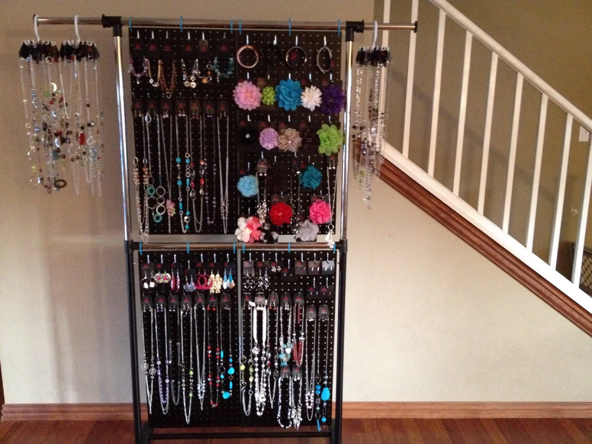 Make Your Own Pegboard Jewelry Display Homesfeed