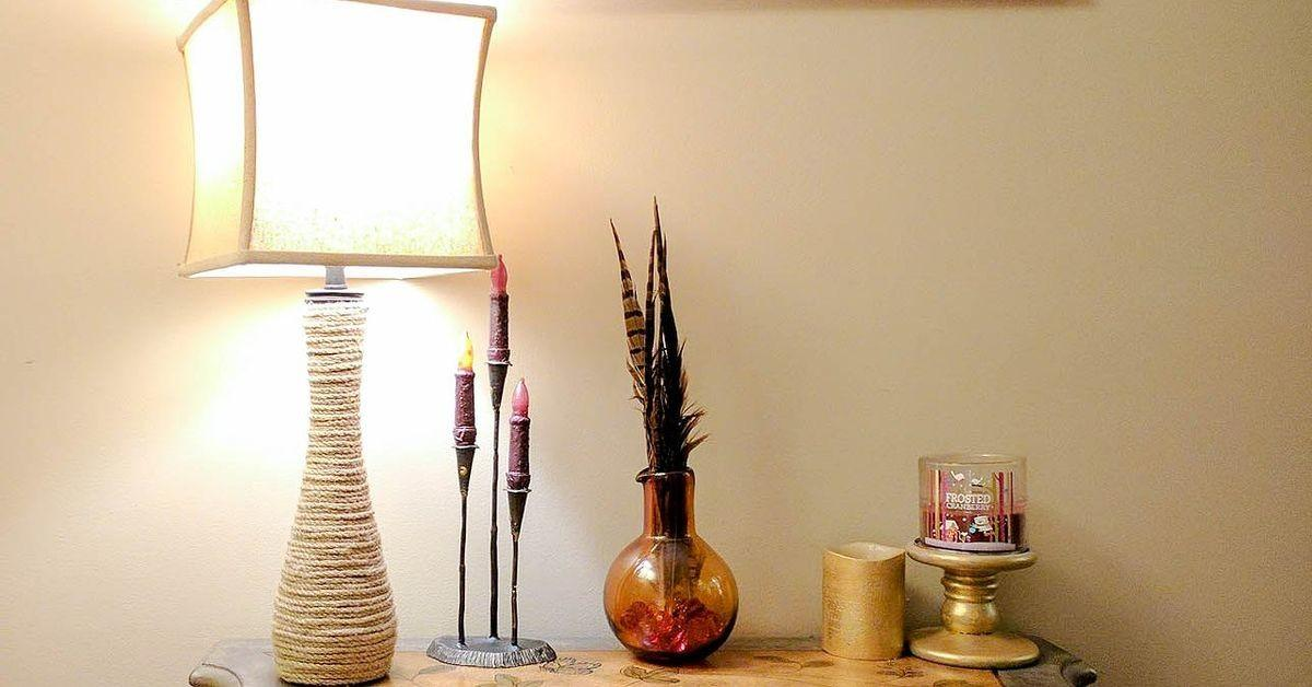 Make Your Own Pier Rope Lamp Knock Hometalk