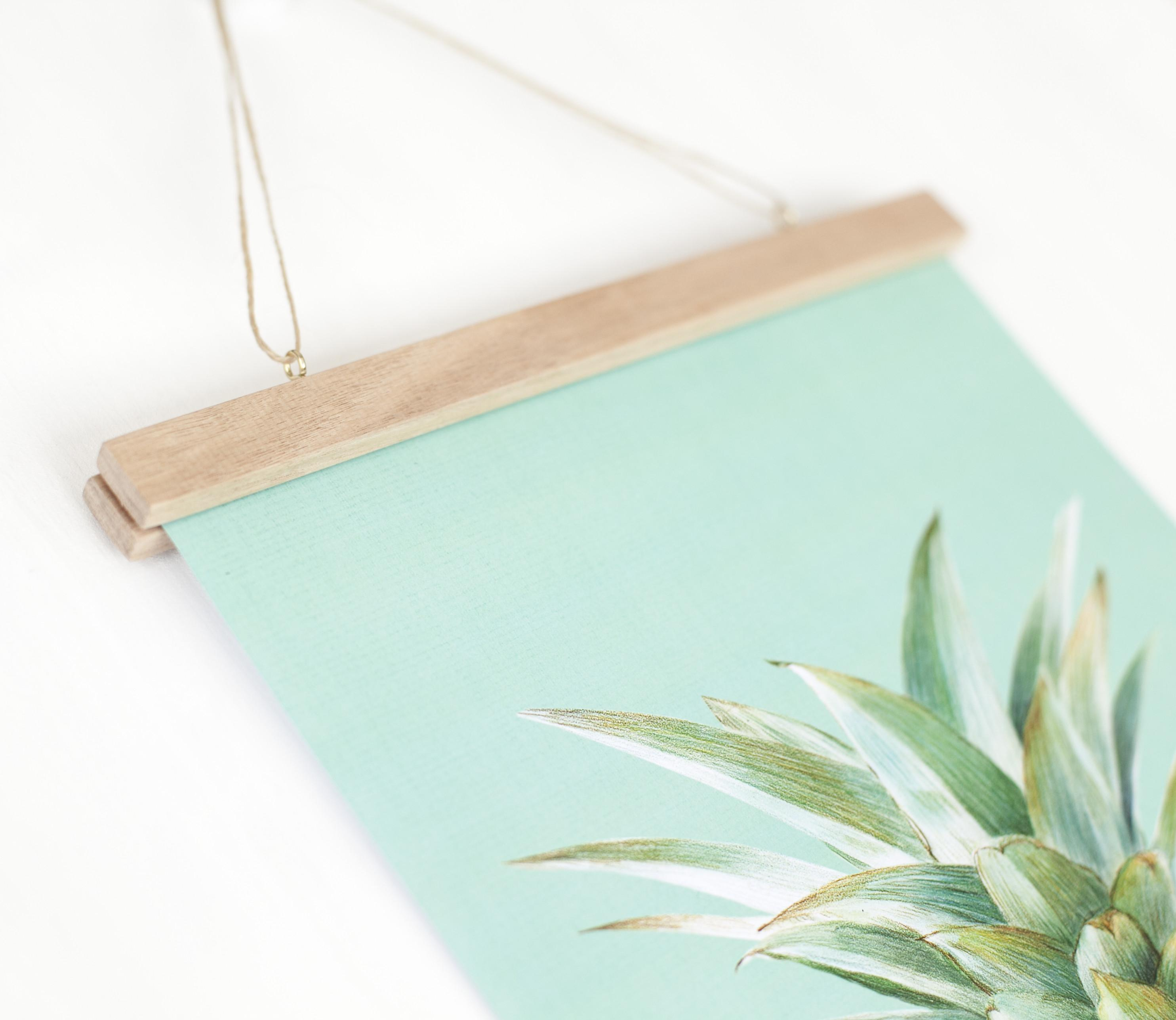 Make Your Own Poster Hanger Great Way Display Art