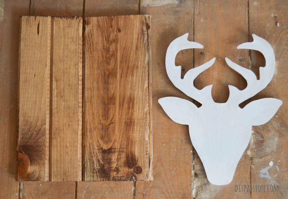 Make Your Own Quick Easy Diy Geometric Deer Head Wall