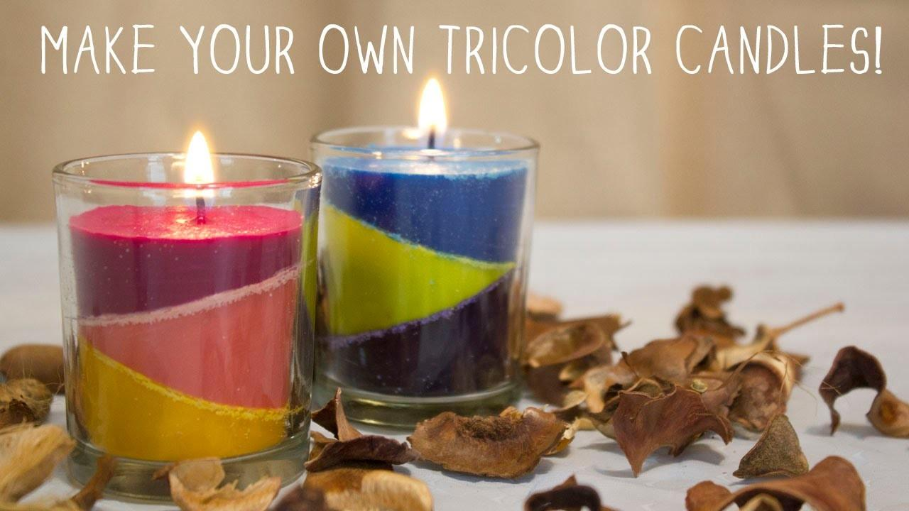 Make Your Own Tricolor Candles Diy Doovi