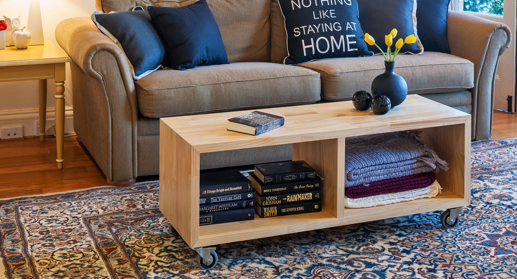 Make Your Own Versatile Mobile Coffee Table Better Homes