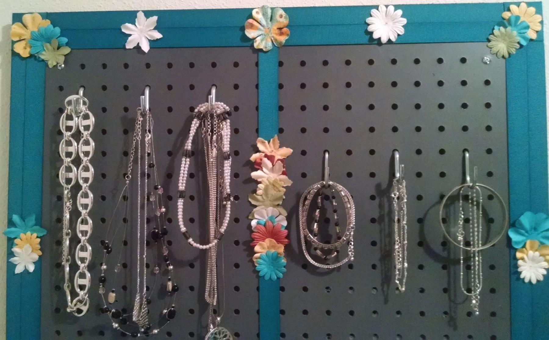 Make Your Own Wall Jewelry Organizer Style Guru Fashion
