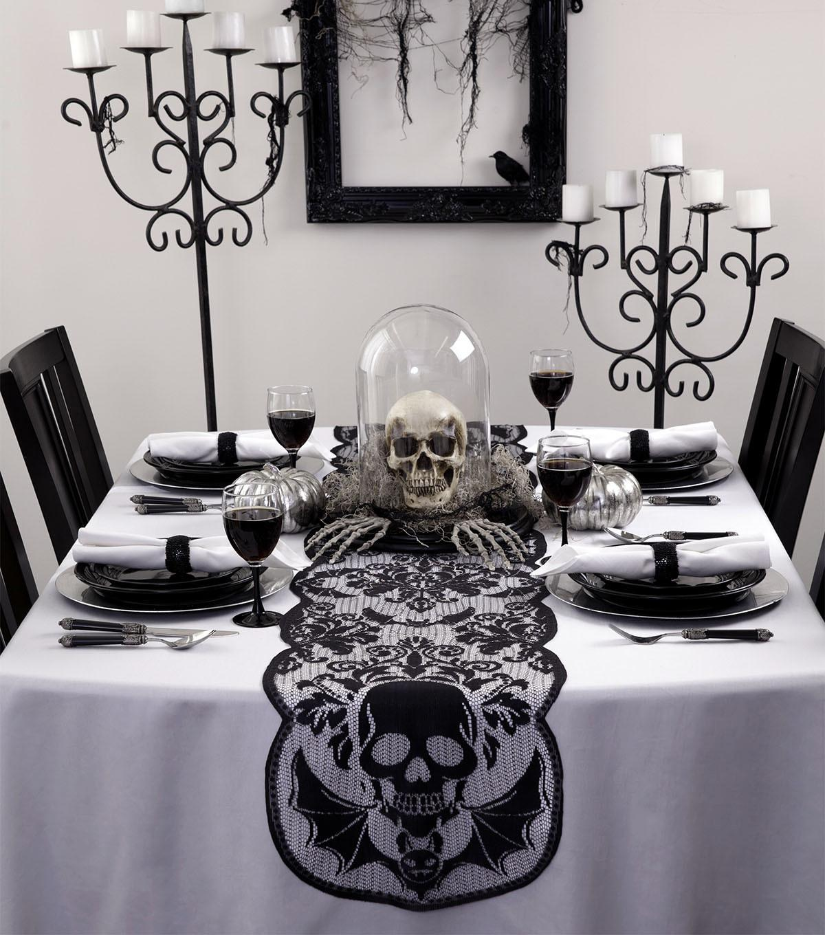 Maker Halloween X14 Table Runner Skull Joann