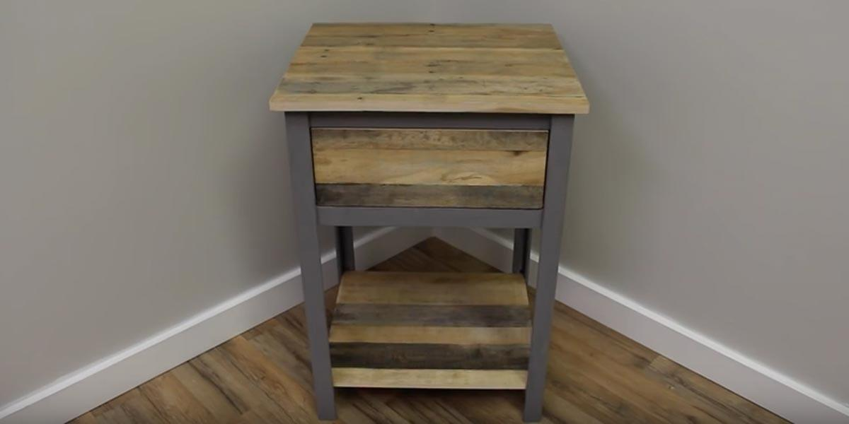 Makes Industrial Nightstand Out Pallet Wood