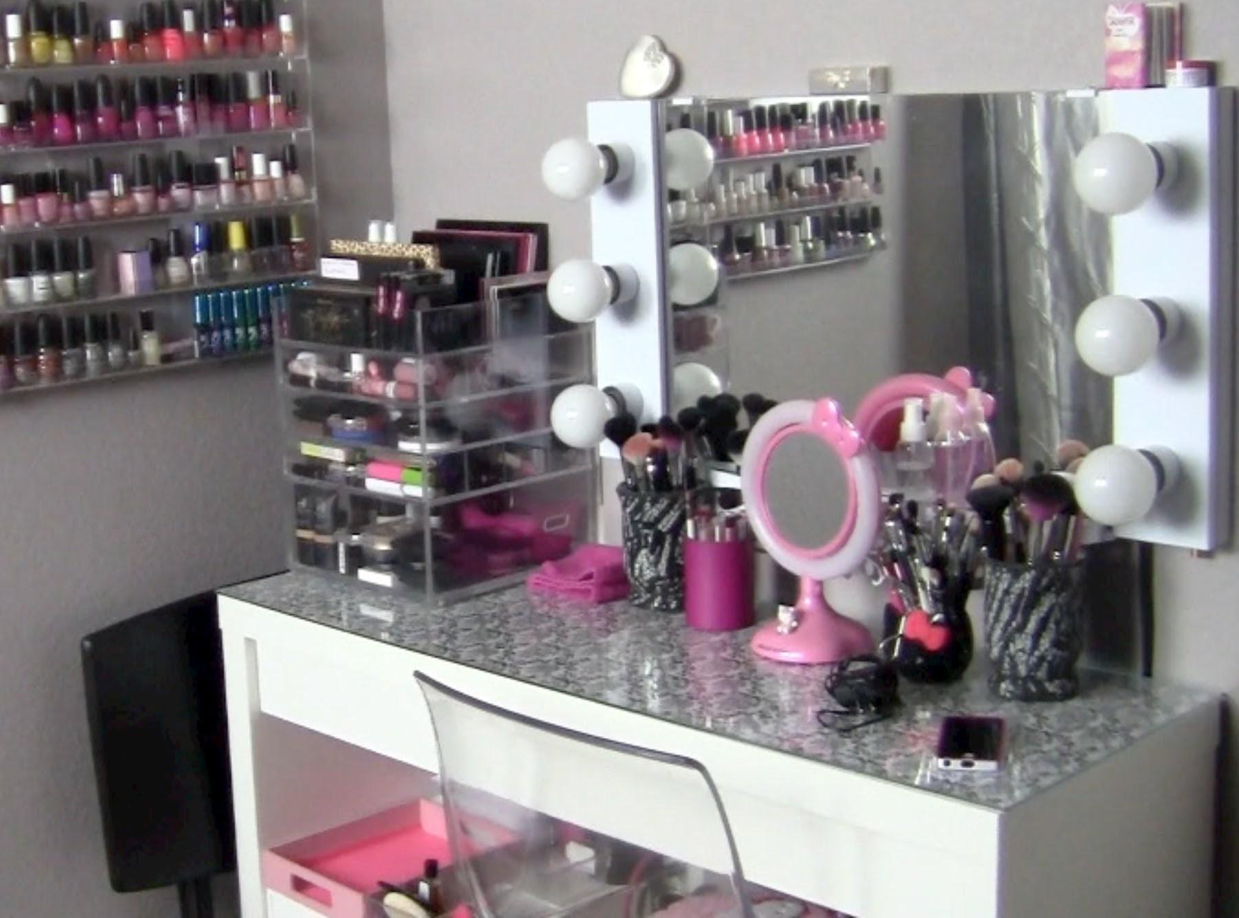Makeup Collection Storage Vanity Tour Featuring