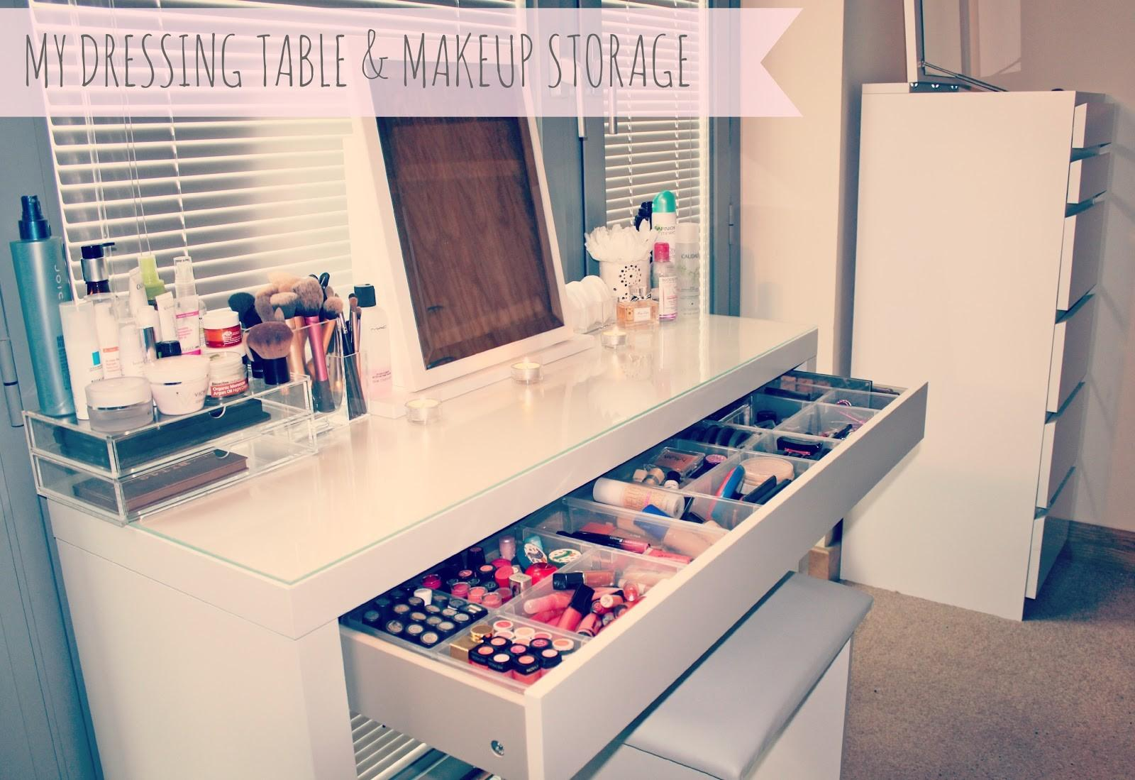 Makeup Storage Malm Dressing Table Couture Girl