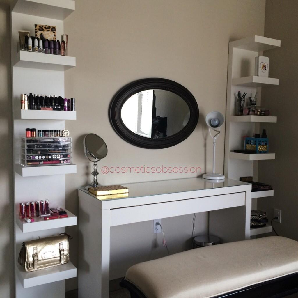 Makeup Storage Organization Lack Shelf Unit