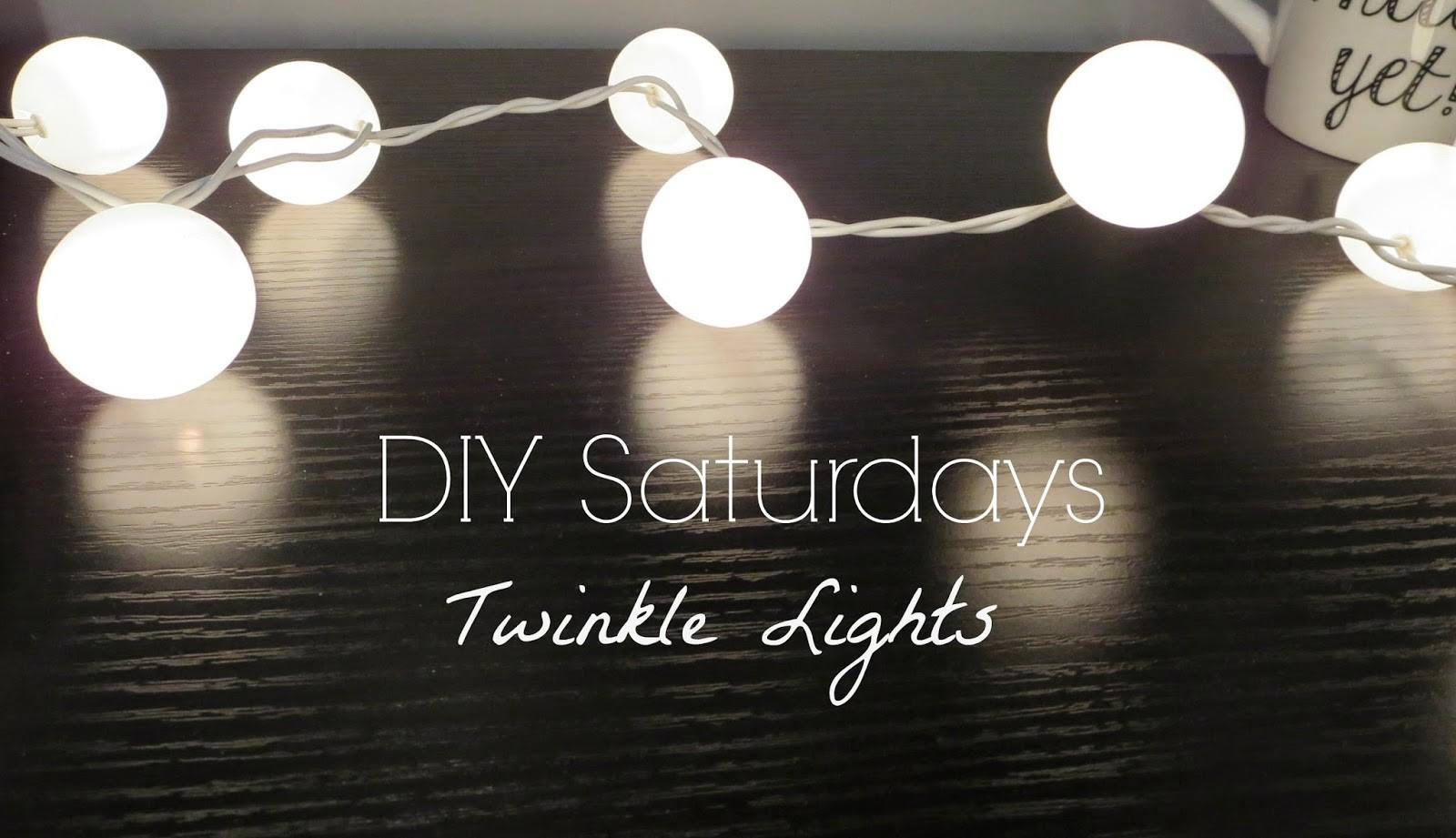 Makeupwednesday Diy Saturdays Twinkle Lights