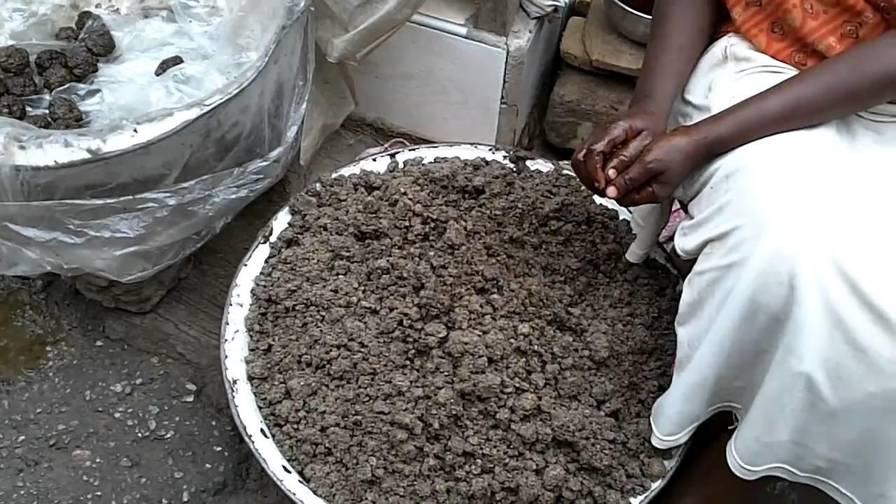 Making Black Soap Kumasi Central Market