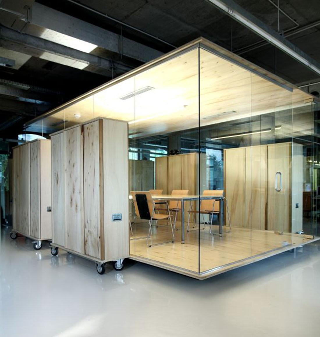 Making Colorful Interior Design Office Wooden