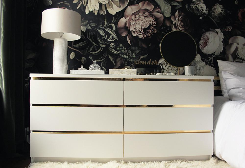 Malm Vintage Style Gold Dresser Hackers