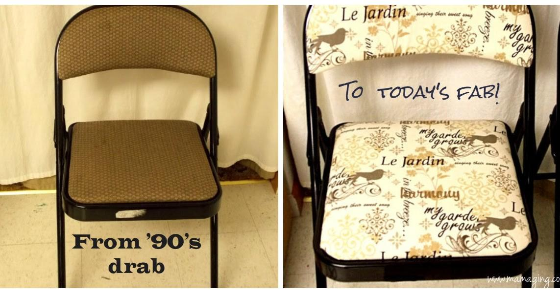 Mama Ging Folding Chair Makeover