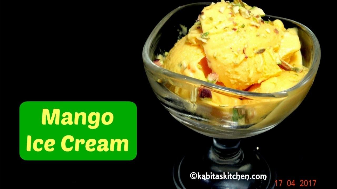 Mango Ice Cream Recipe Easy Homemade