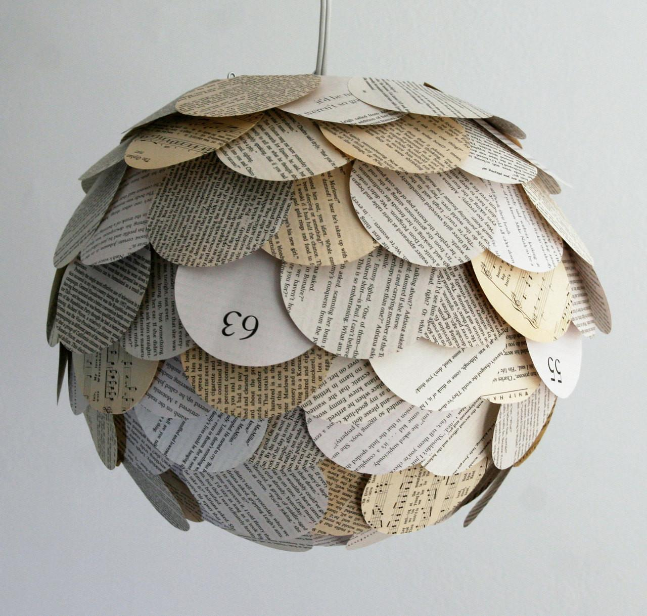 Manhasset Mixed Book Pendant Light Hanging Paper