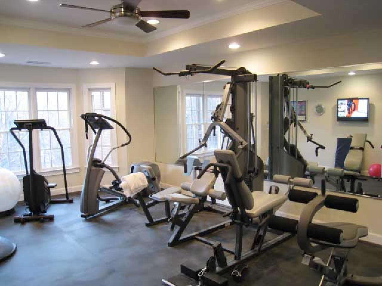 Manly Home Gyms Decorating Design Ideas Interior
