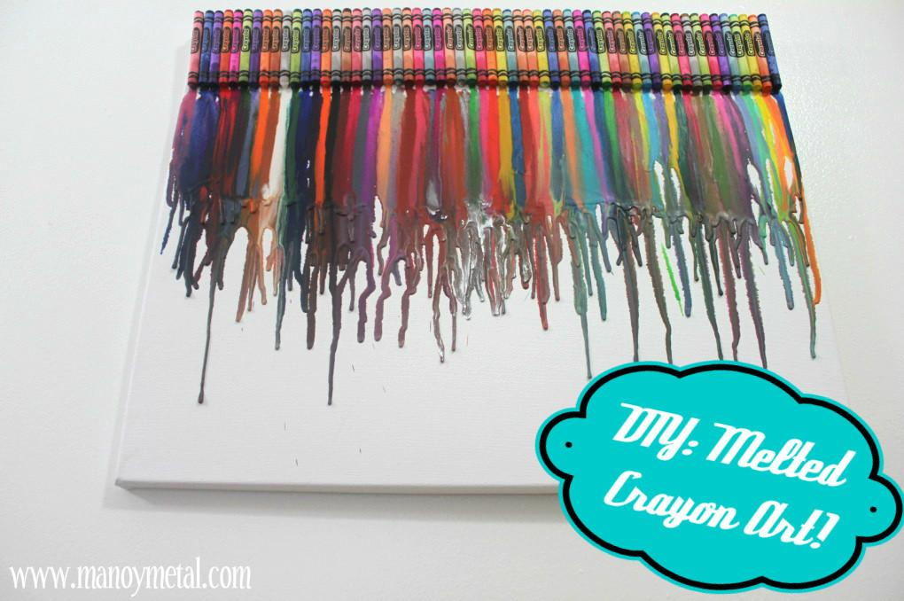 Mano Metal Lifestyle Blog Diy Melted Crayon Art