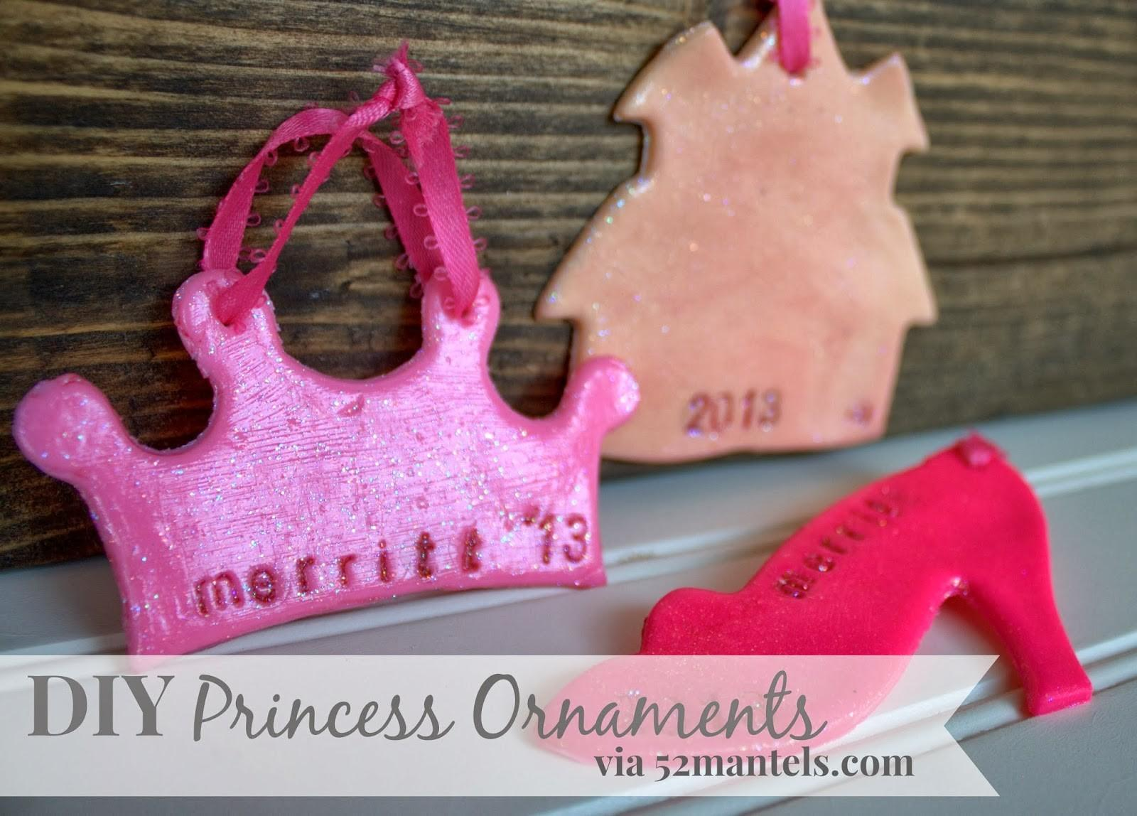Mantels Princess Christmas Ornaments Kid Friendly