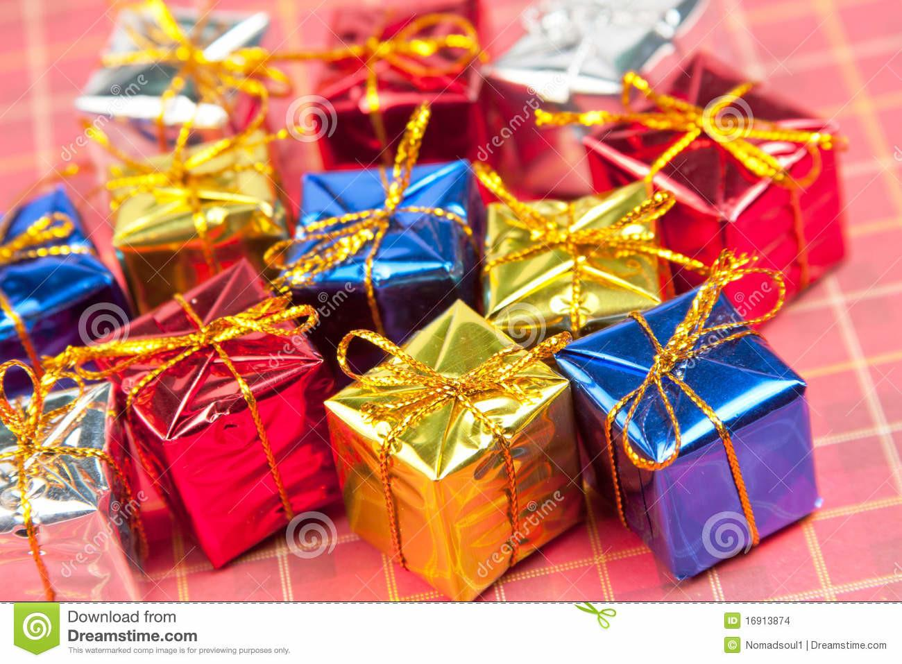 Many Small Christmas Gifts Stock Rolled