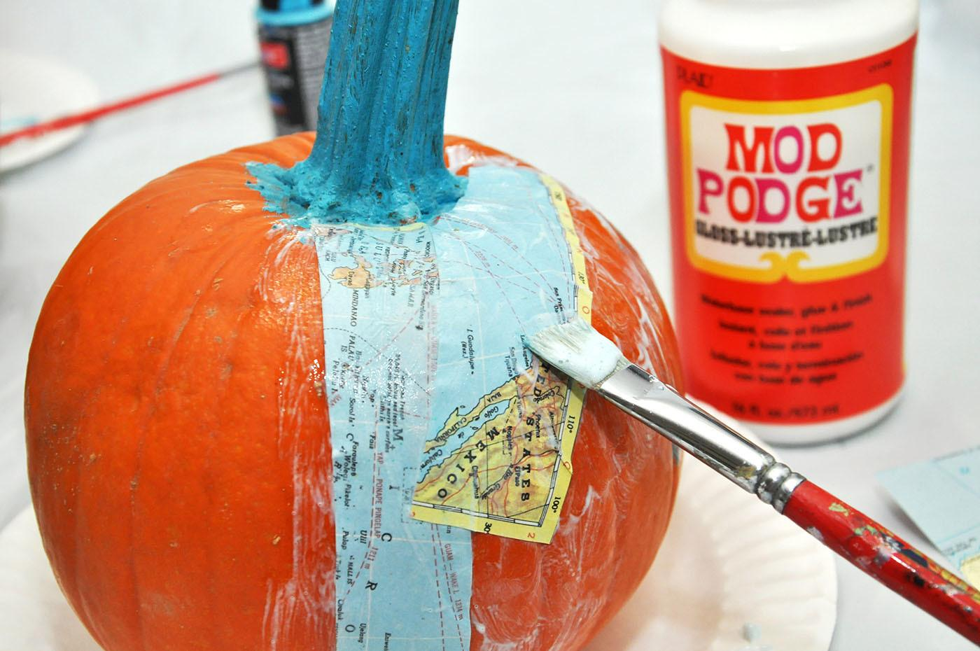 Map Craft Unique Diy Pumpkins Mod Podge Rocks