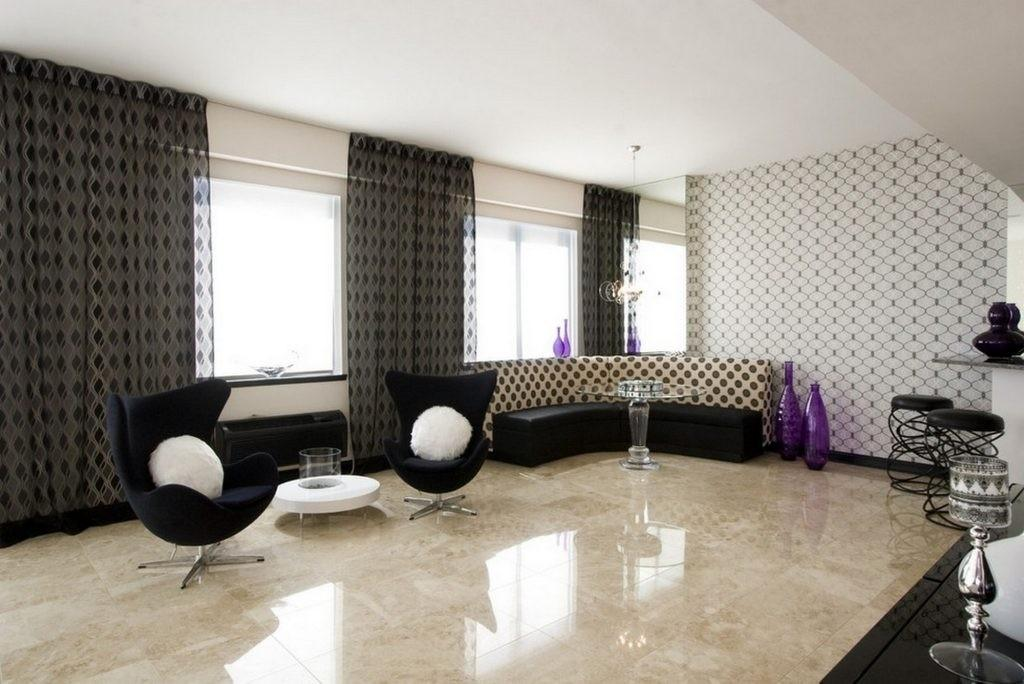 Marble Ceramic Floor Tile Types Contemporary Living
