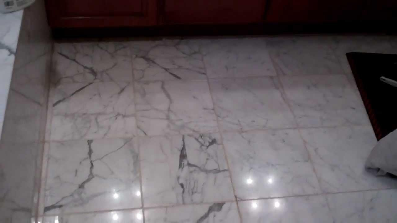 Marble Floor Grout Replacement