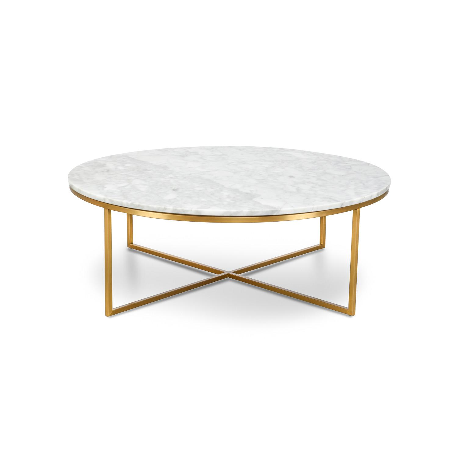 Marble Gold Coffee Table Round Scandinavian Home