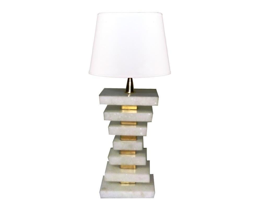 Marble Stacked Elegant Table Lamp
