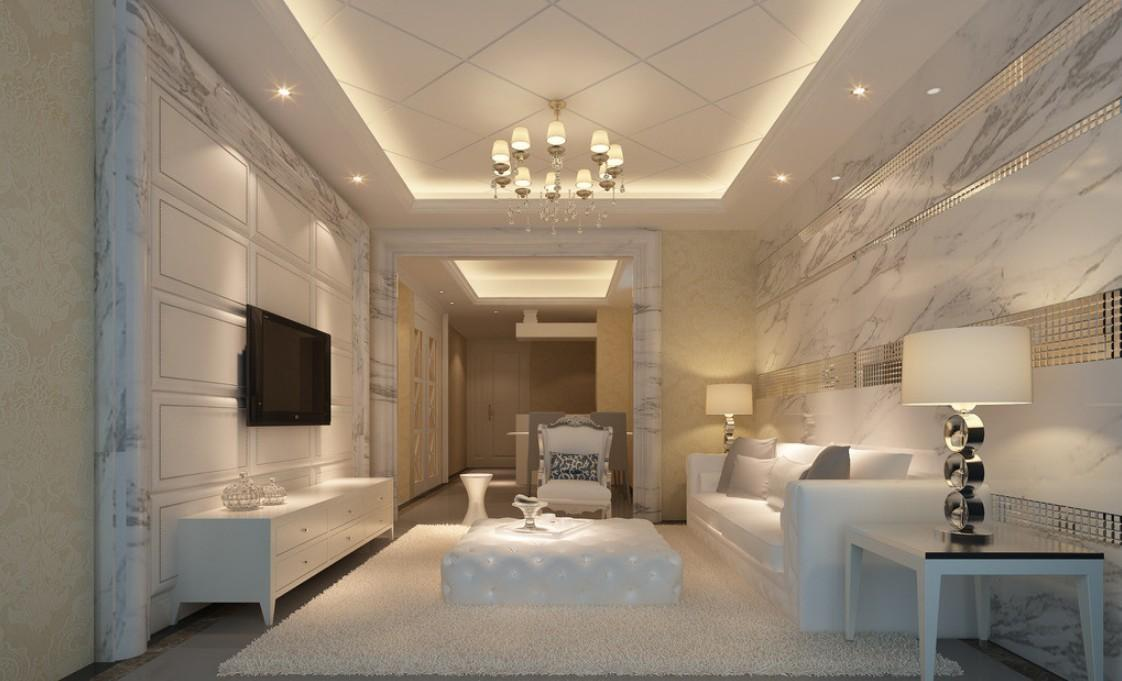 Marble Walls Living Room