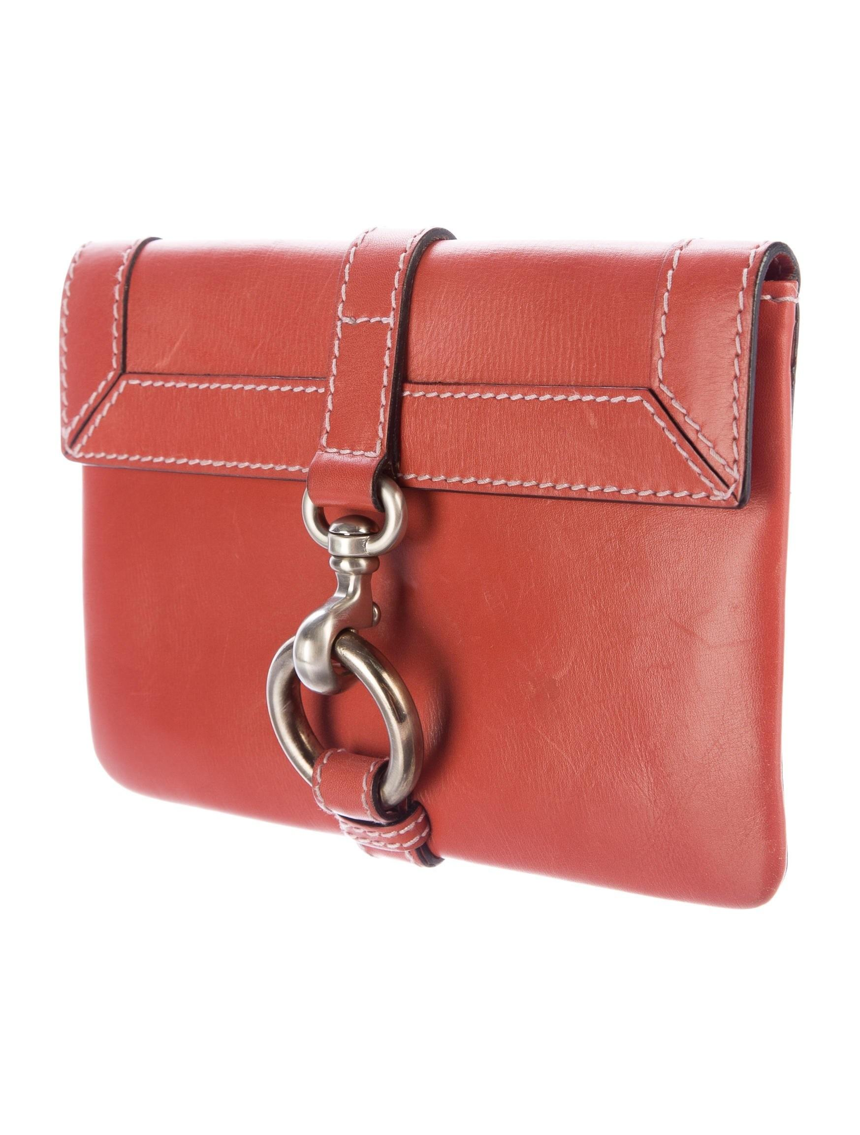 Marc Jacobs Leather Flap Clutch Handbags Mar
