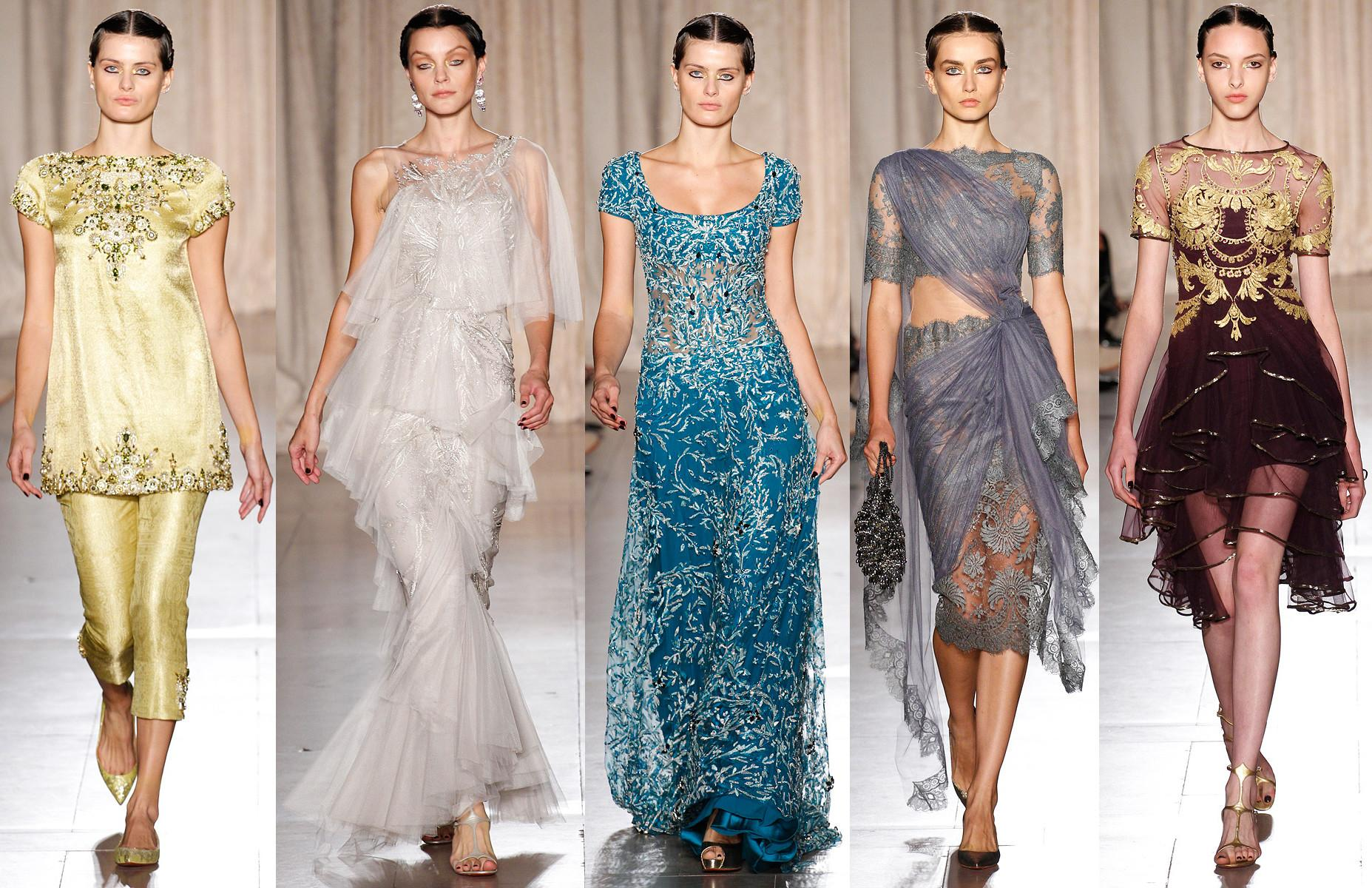 Marchesa Spring 2013 Rtw Collection India Inspired New