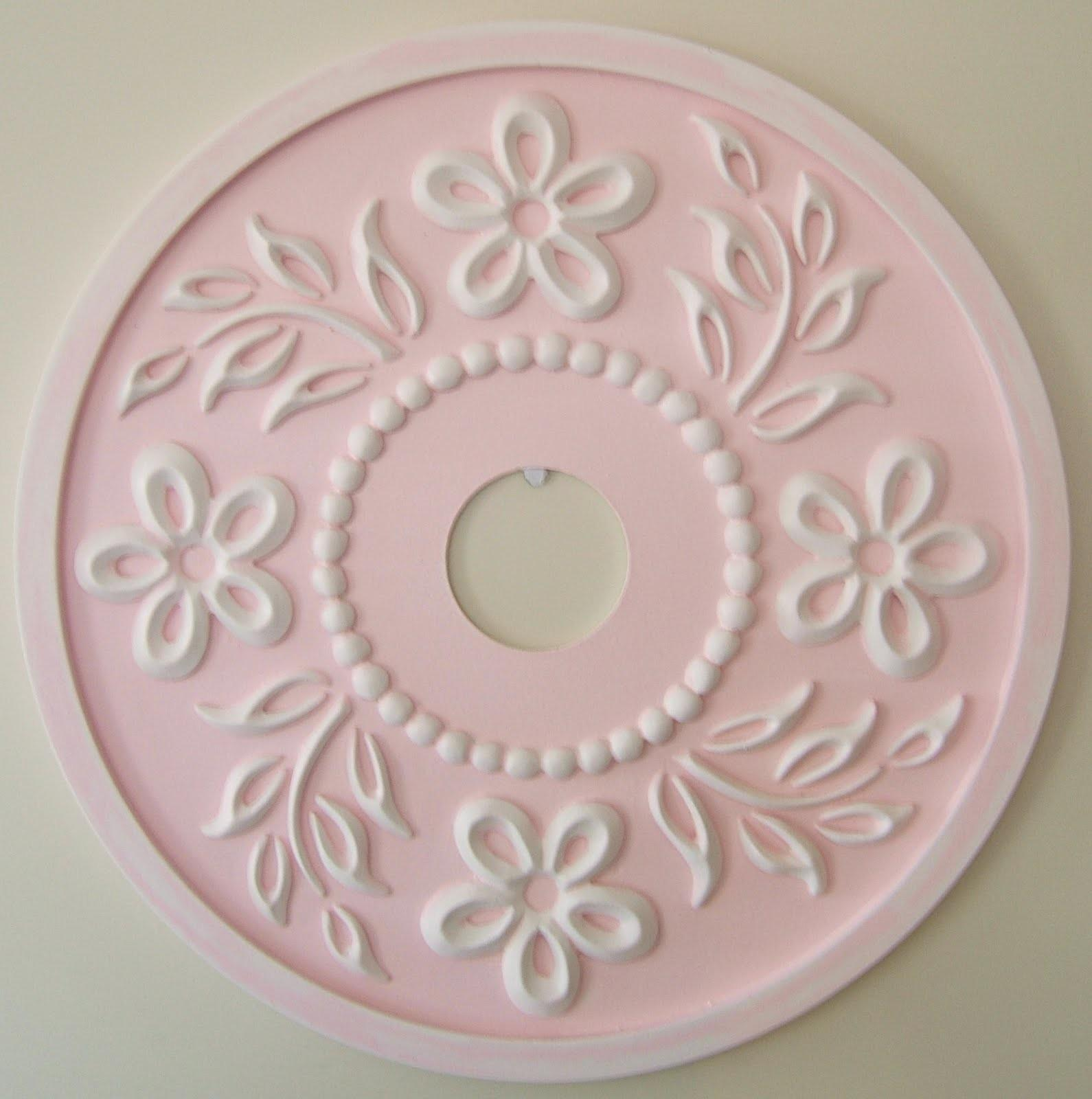Marie Ricci Collection Tropical Hibiscus Ceiling Medallion