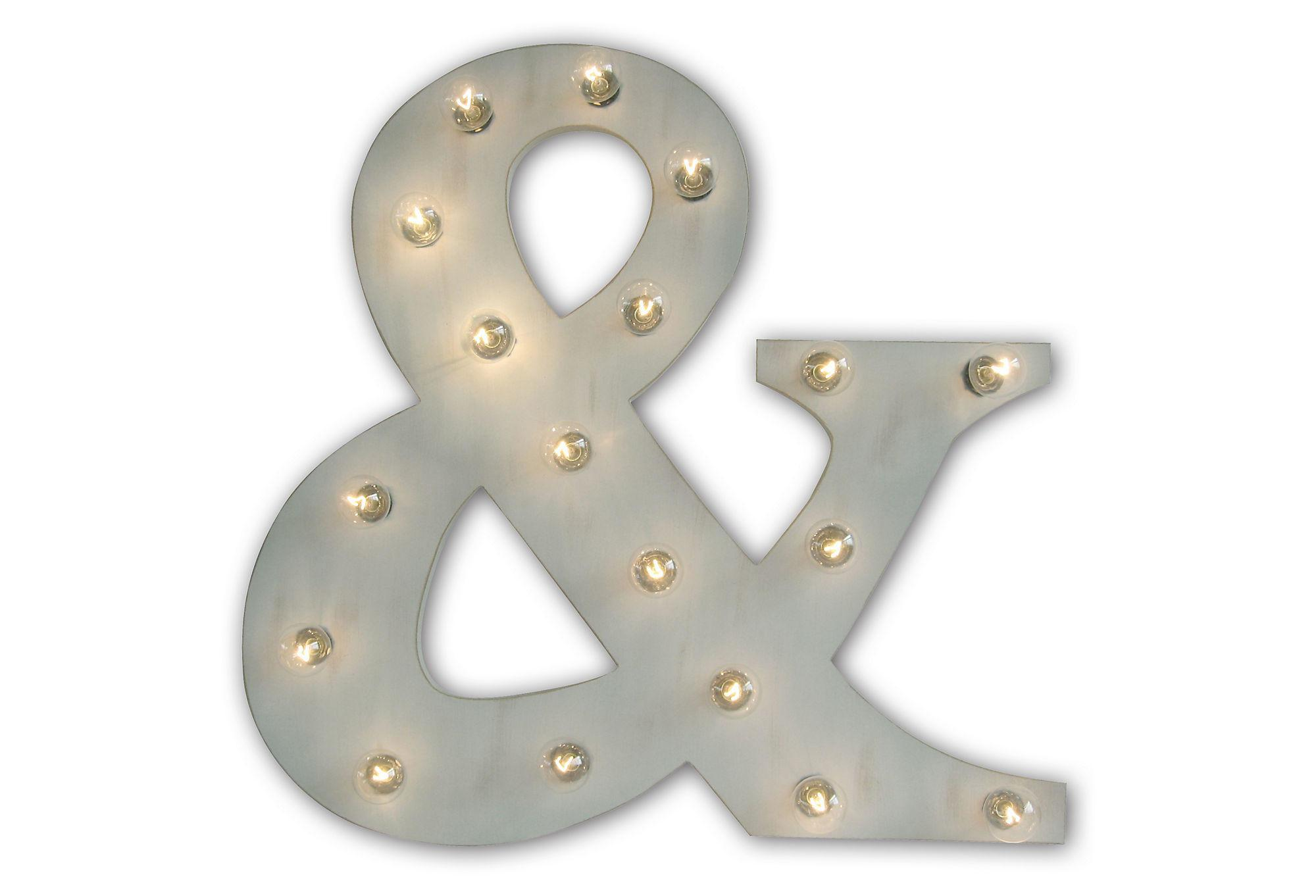 Marquee Light Ampersand Gray Signs One Kings Lane