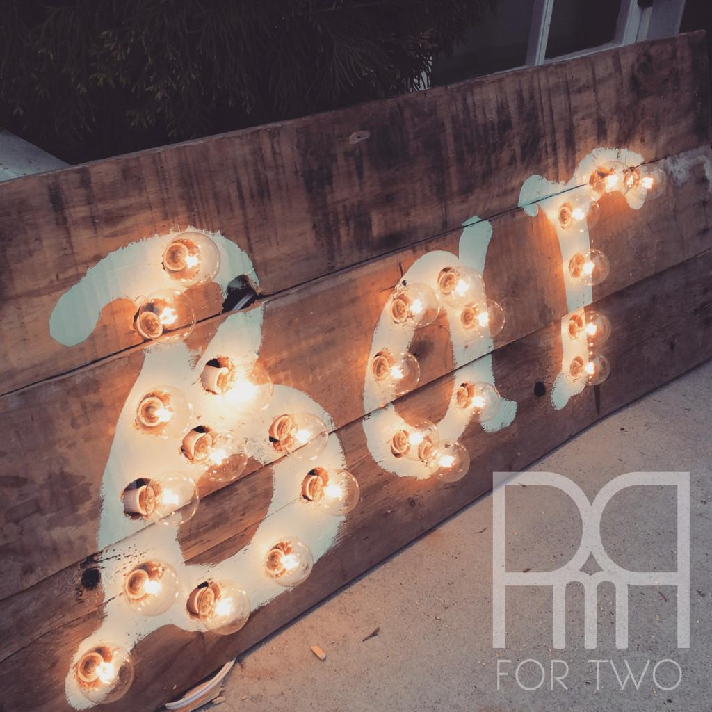 Marquee Lights Sign Diy Pmq Two