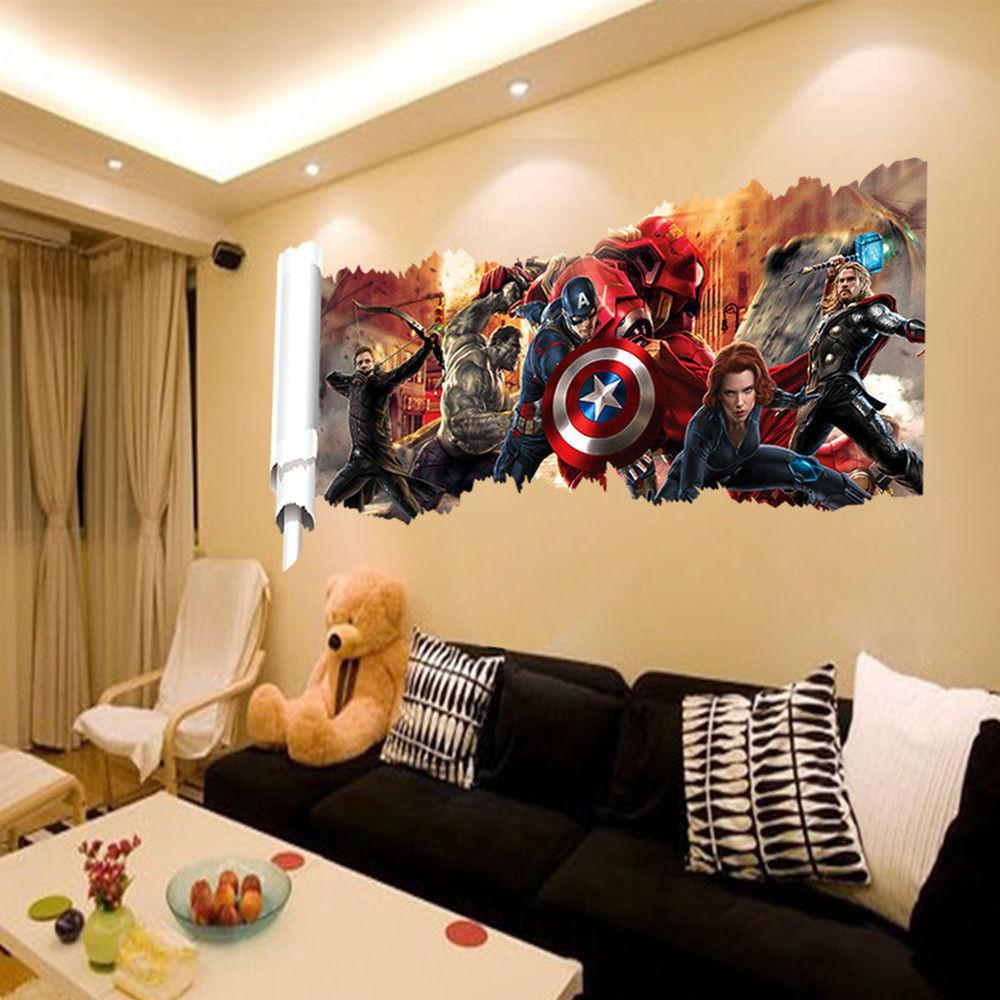 Marvel Avengers Hulk Removable Wall Decals Art Home
