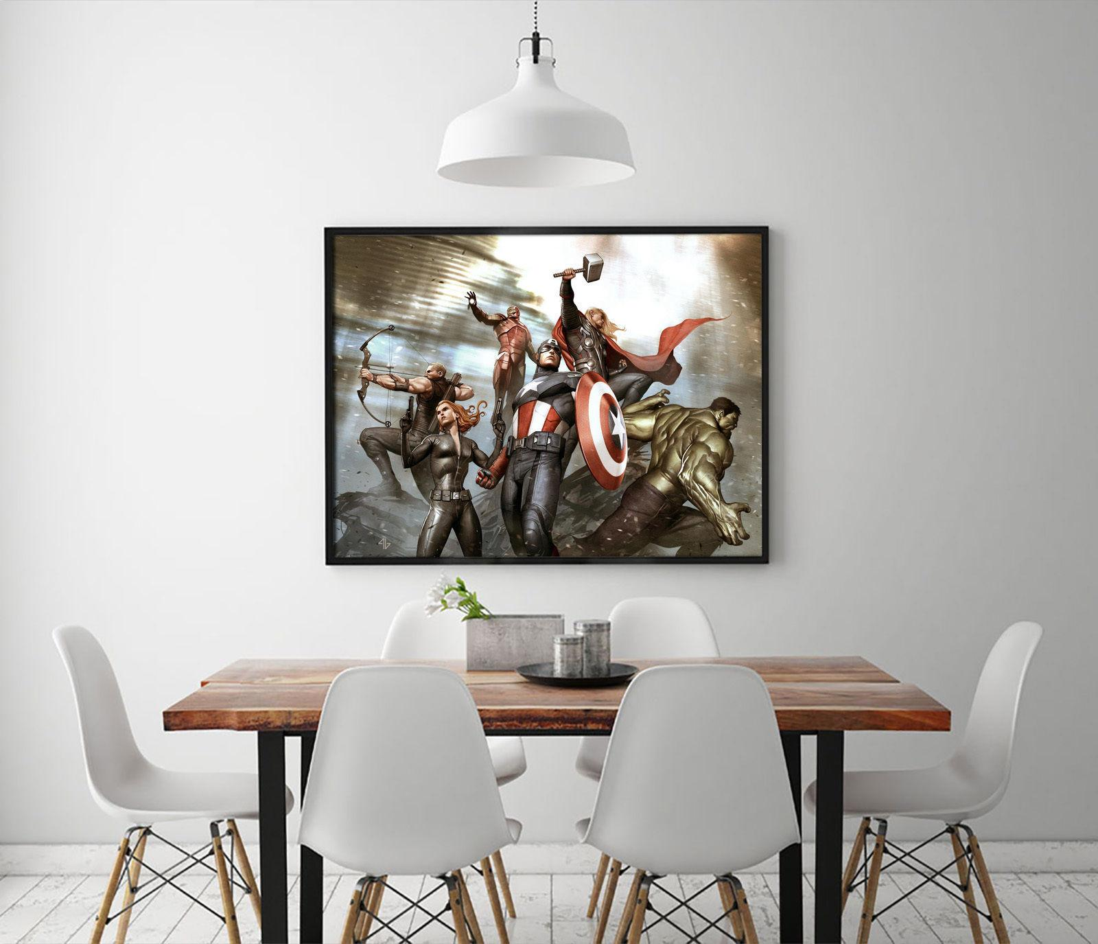 Marvel Avengers Painting Print Canvas Home Decor