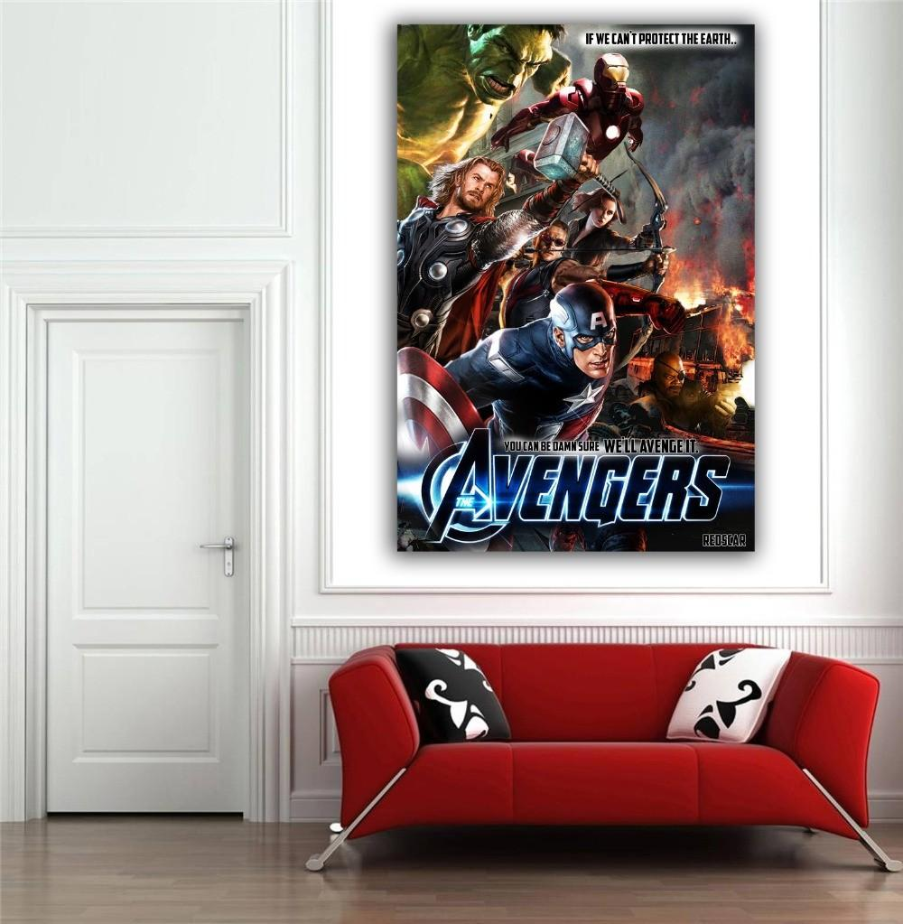 Marvel Home Decor Wall Sticker Avengers Posters Walls