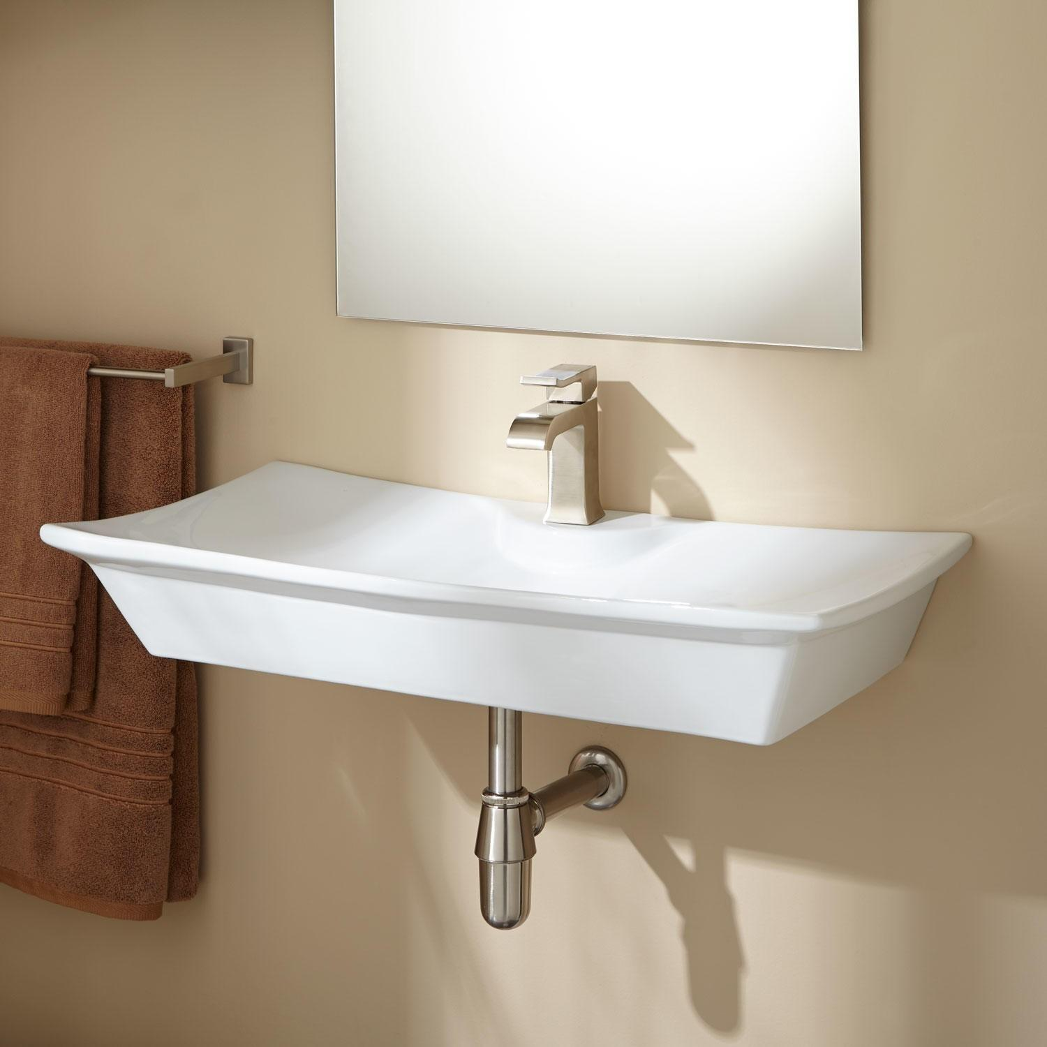 Marvella Porcelain Wall Mount Bathroom Sink