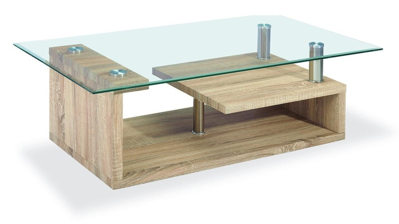 Marvellous Coffee Wood Glass Table Home