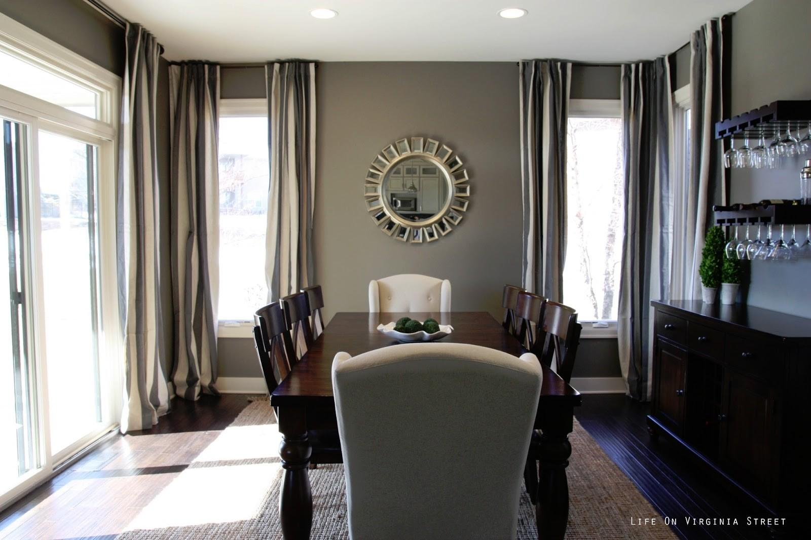 Masculine Modern Bedroom Neutral Gray Beige Dining Room