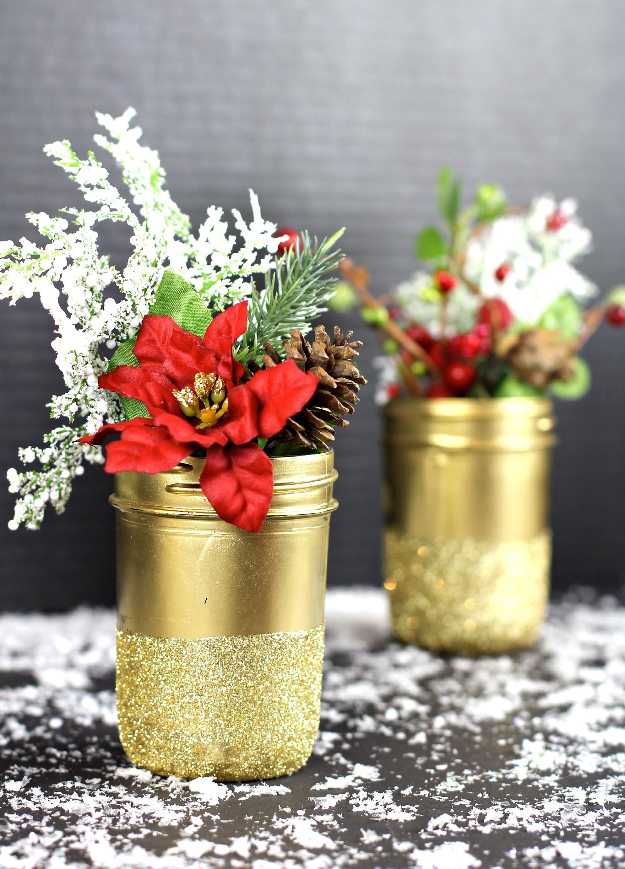 Mason Jar Christmas Decorations Crafty Cleverness