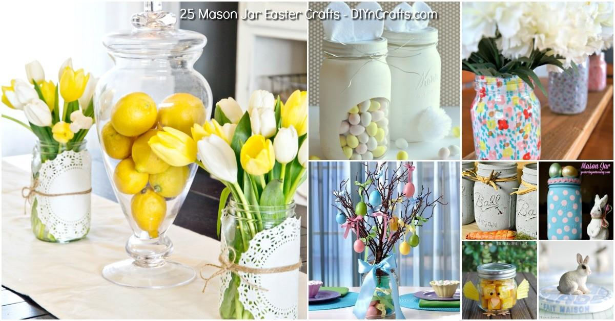 Mason Jar Easter Crafts Gifts Home Decor More