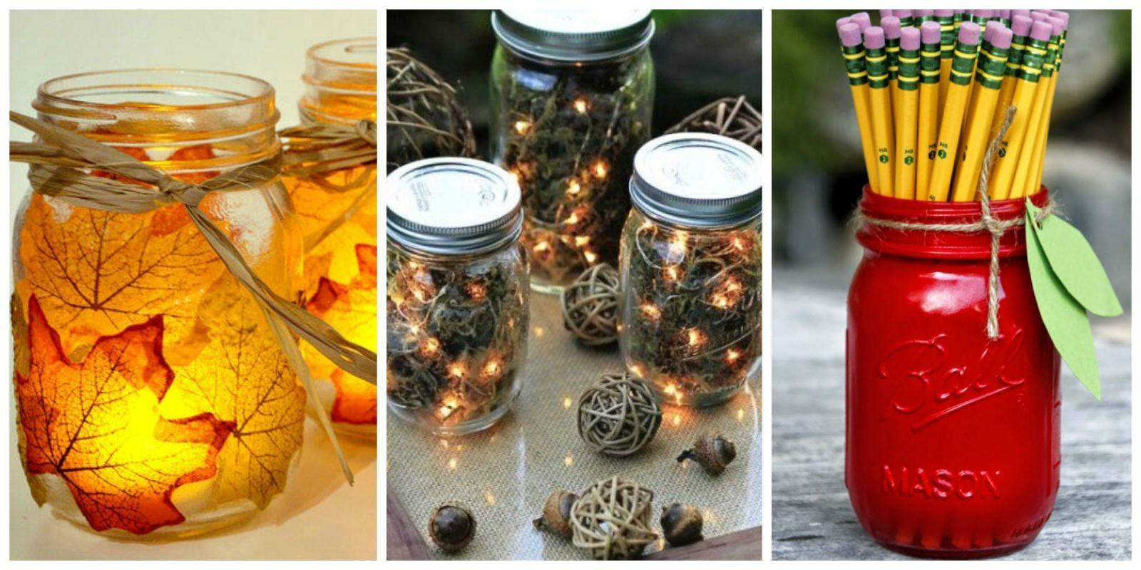 Mason Jar Fall Crafts Autumn Diy Ideas Jars