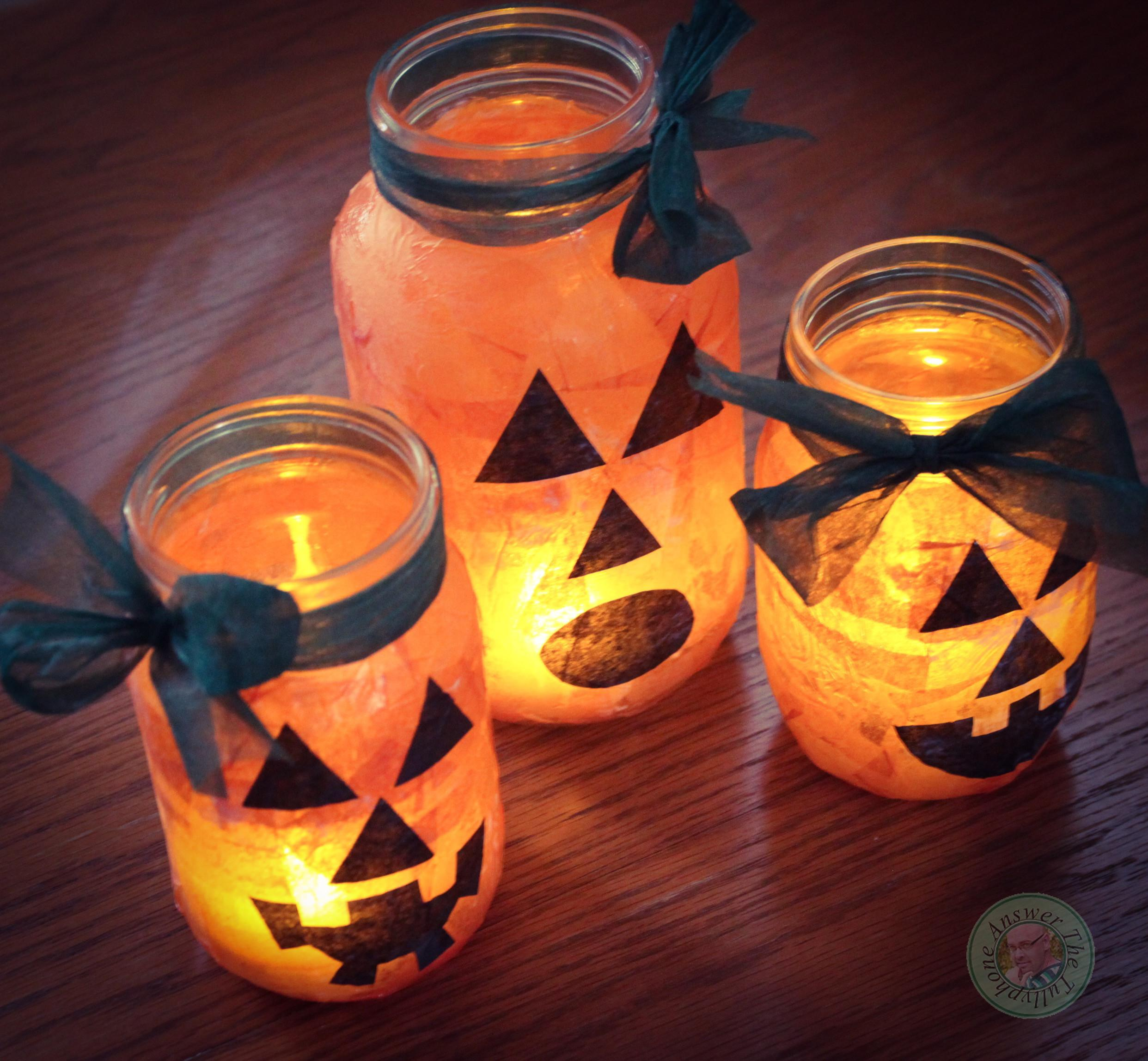 Mason Jar Jack Lantern Tutorial Diy Sherritully